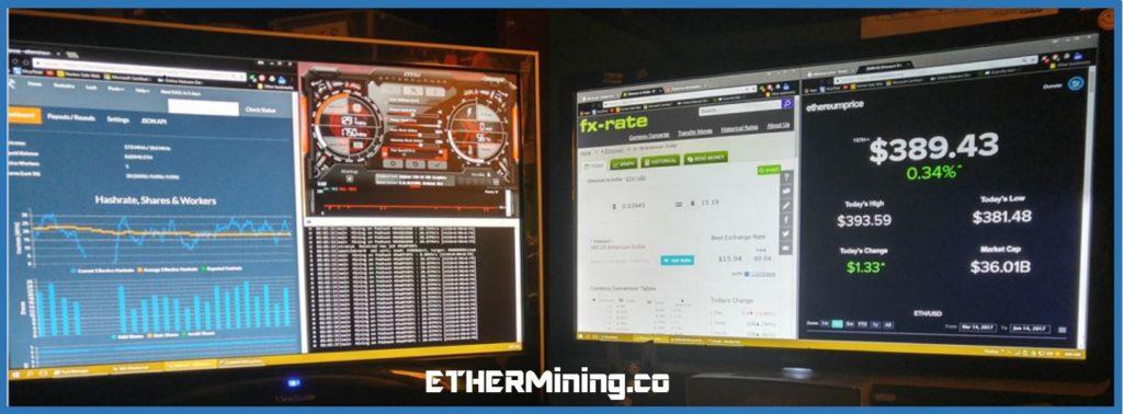 Ether Mining Company - mining rig dashboard