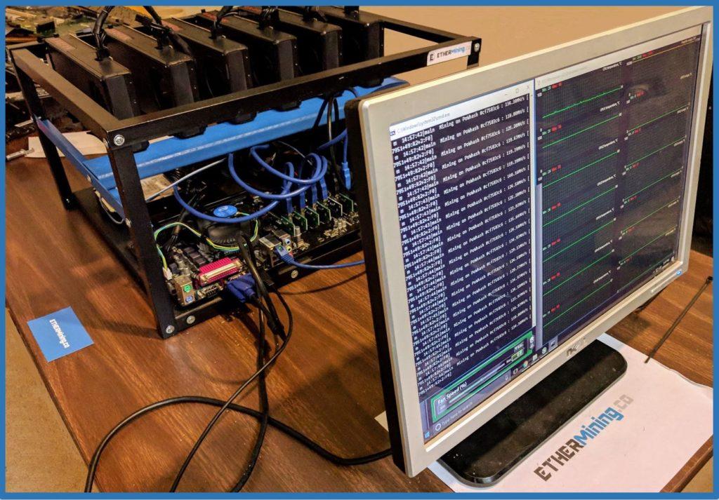 Ether Mining Company - 6 GPU mining rig - AMD RX-480